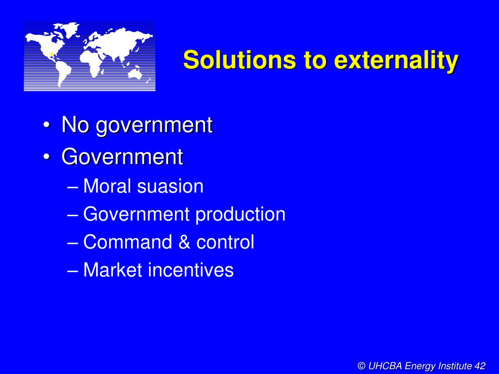 Solutions to externality
