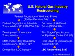 u s natural gas industry restructuring