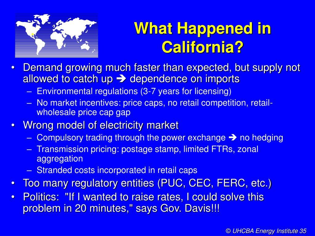 What Happened in California?