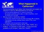 what happened in california