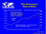 why restructure role of nugs