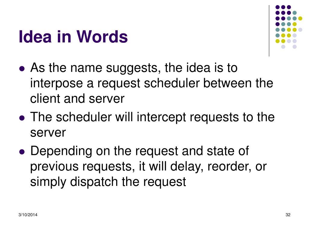 Idea in Words