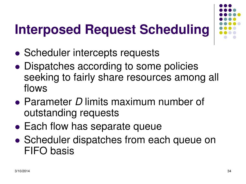 Interposed Request Scheduling
