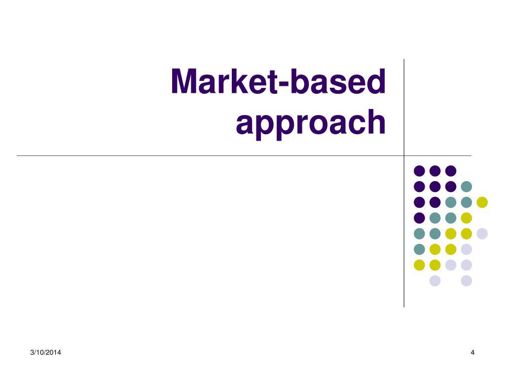 Market-based approach