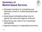 summary of market based services