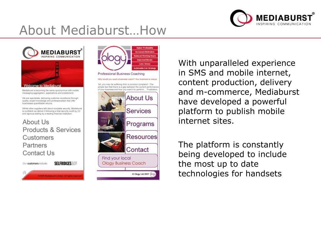 About Mediaburst…How