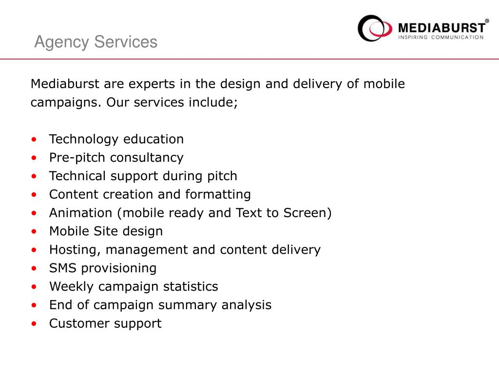 Mediaburst are experts in the design and delivery of mobile