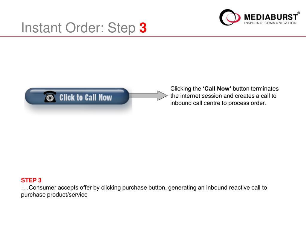 Instant Order: Step