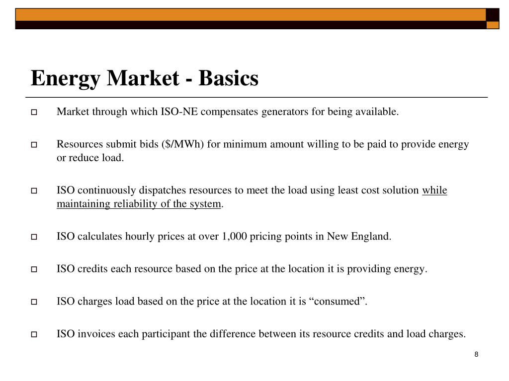 Energy Market - Basics