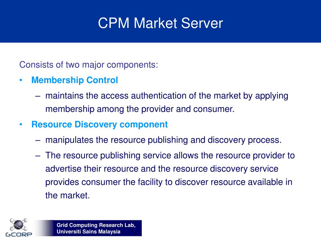 CPM Market Server