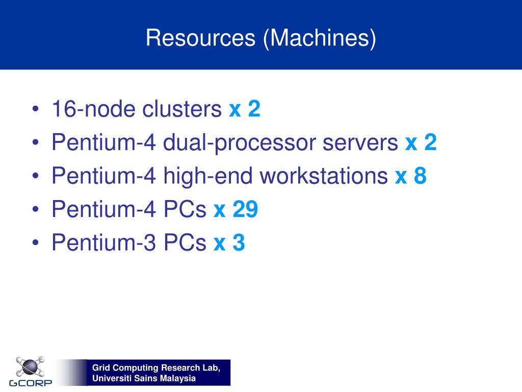 Resources (Machines)