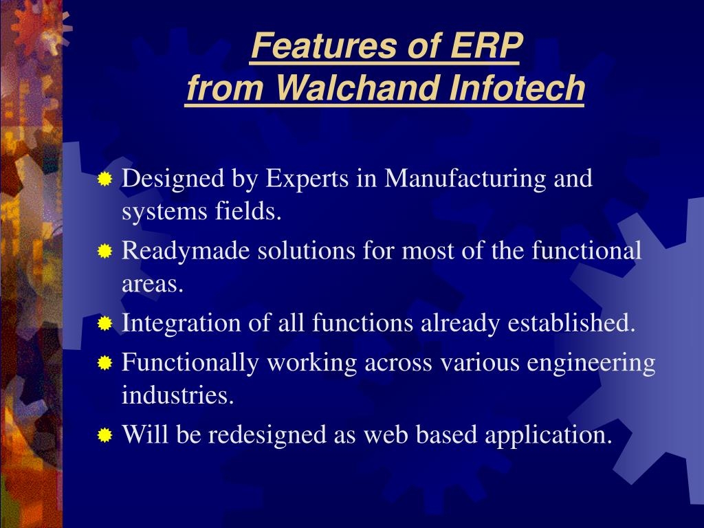 Features of ERP