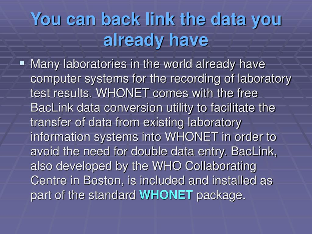You can back link the data you already have