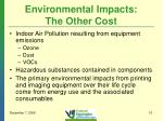 environmental impacts the other cost