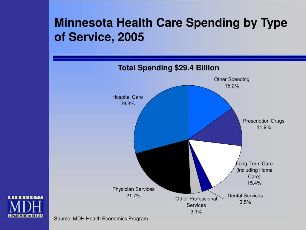 Minnesota Health Care Spending by Type of Service, 2005
