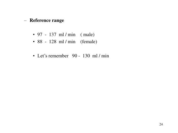 Reference range