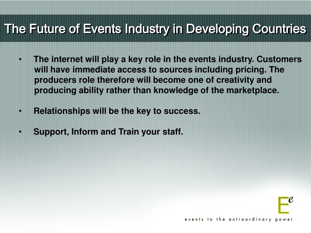 The Future of Events Industry in Developing Countries