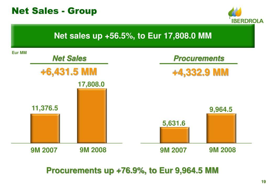 Net Sales - Group