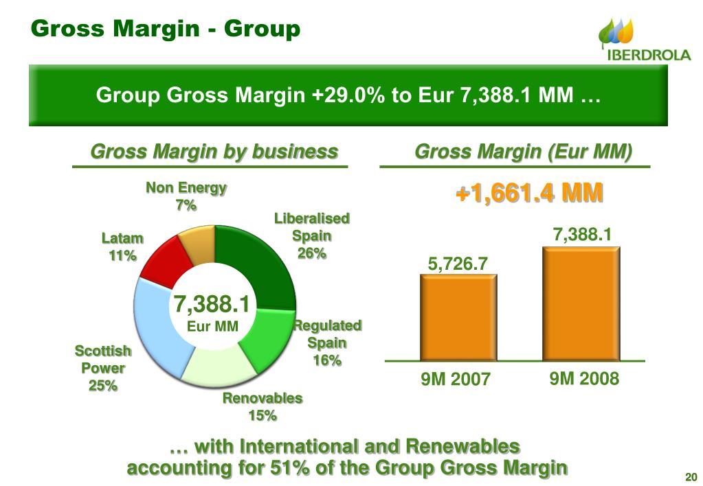 Gross Margin - Group