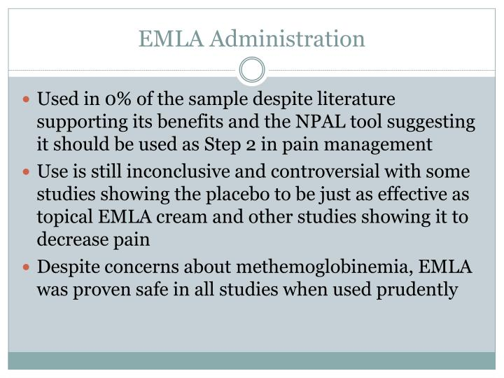 EMLA Administration