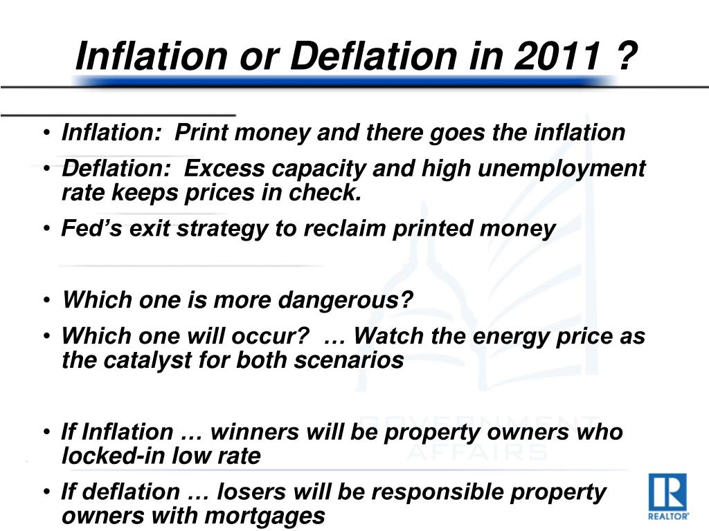 Inflation or Deflation in 2011 ?