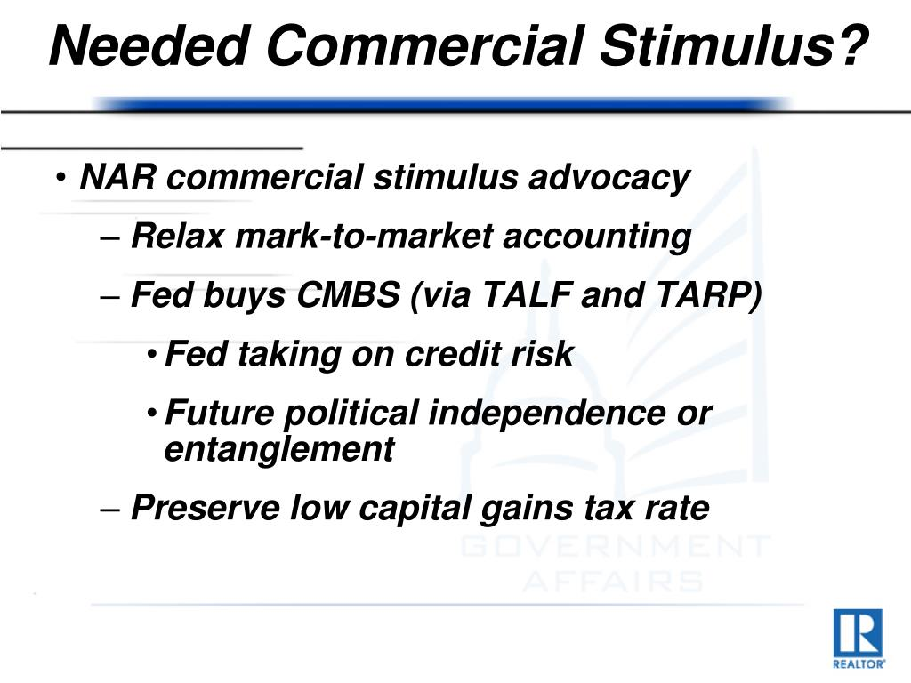 Needed Commercial Stimulus?