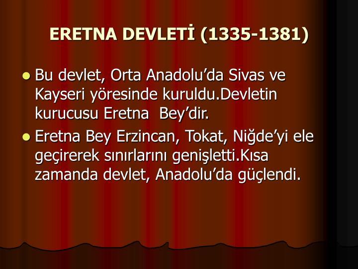 ERETNA DEVLETİ (1335-1381)