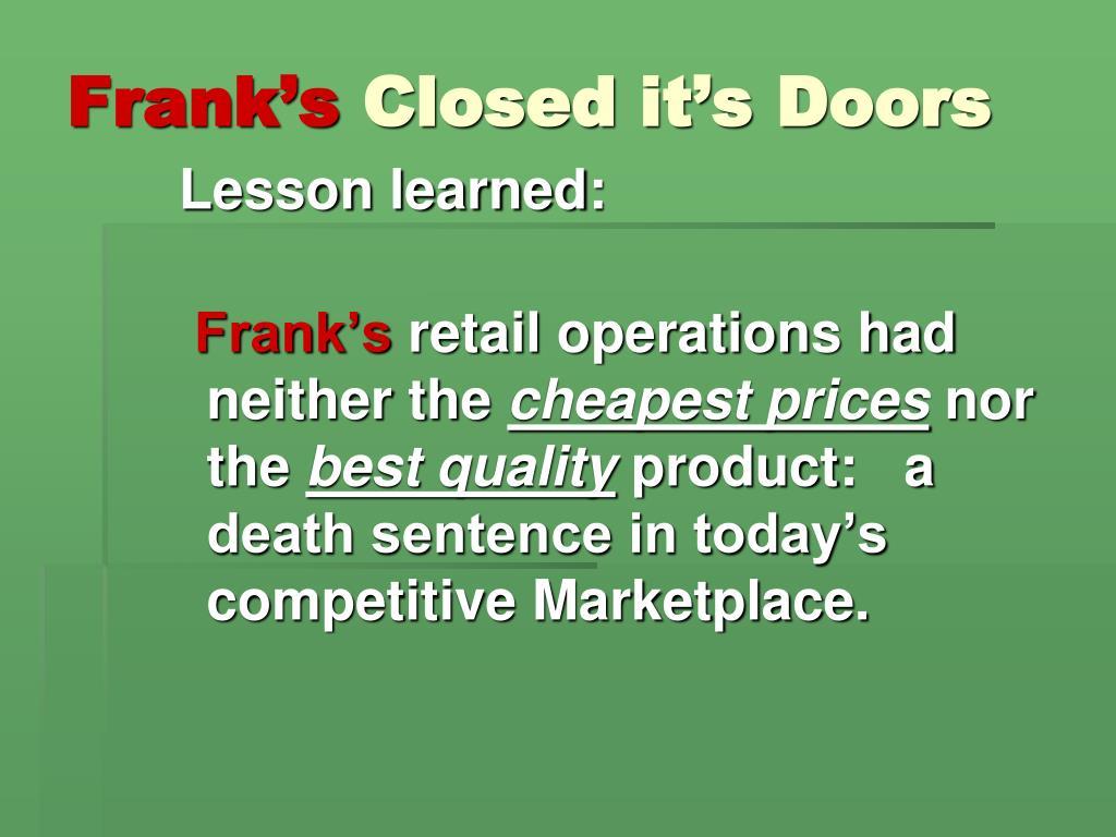Frank's