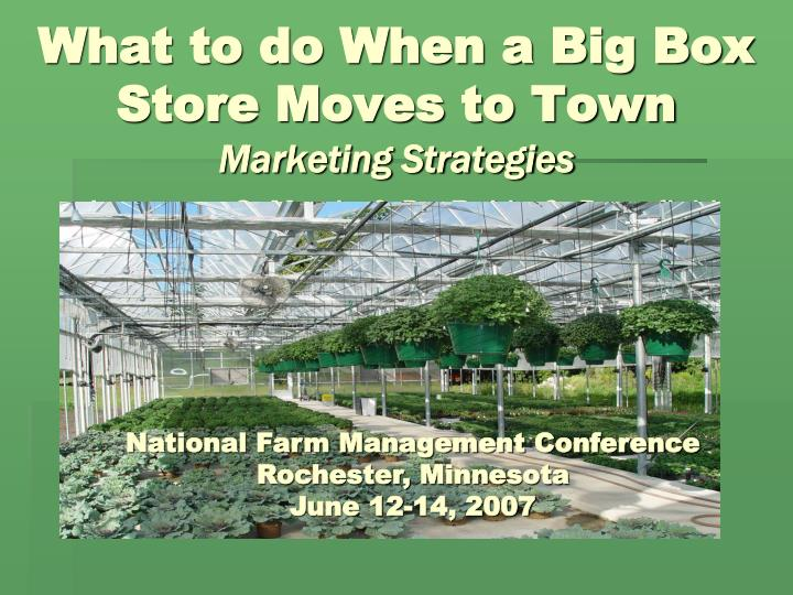 What to do When a Big Box Store Moves to Town
