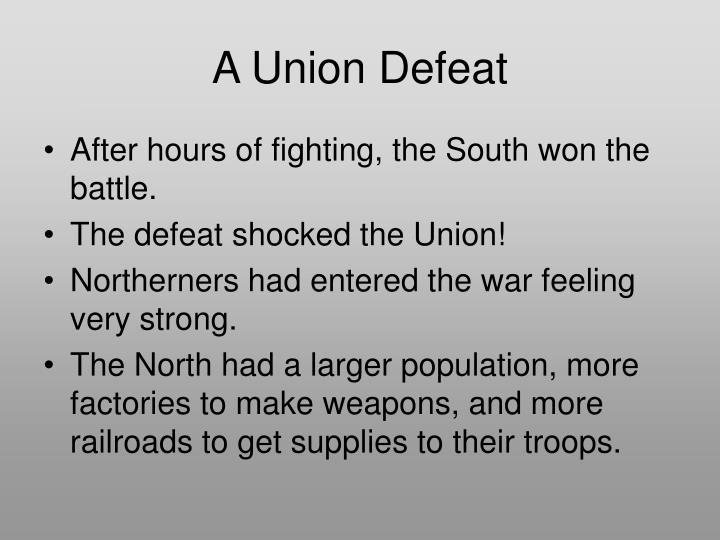 A Union Defeat