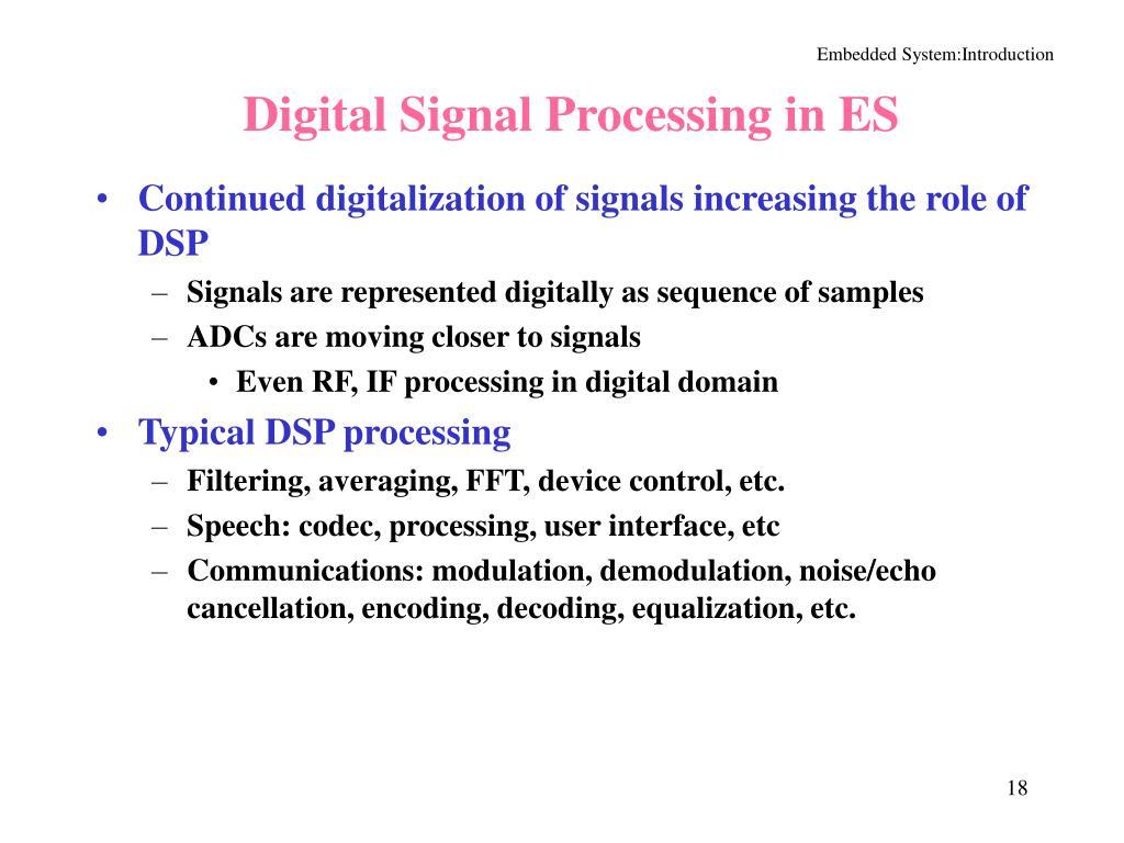Digital Signal Processing in ES