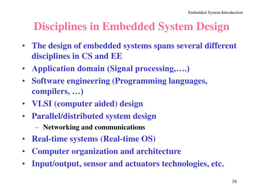Disciplines in Embedded System Design
