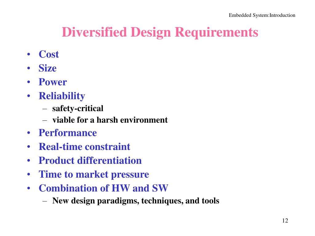 Diversified Design Requirements