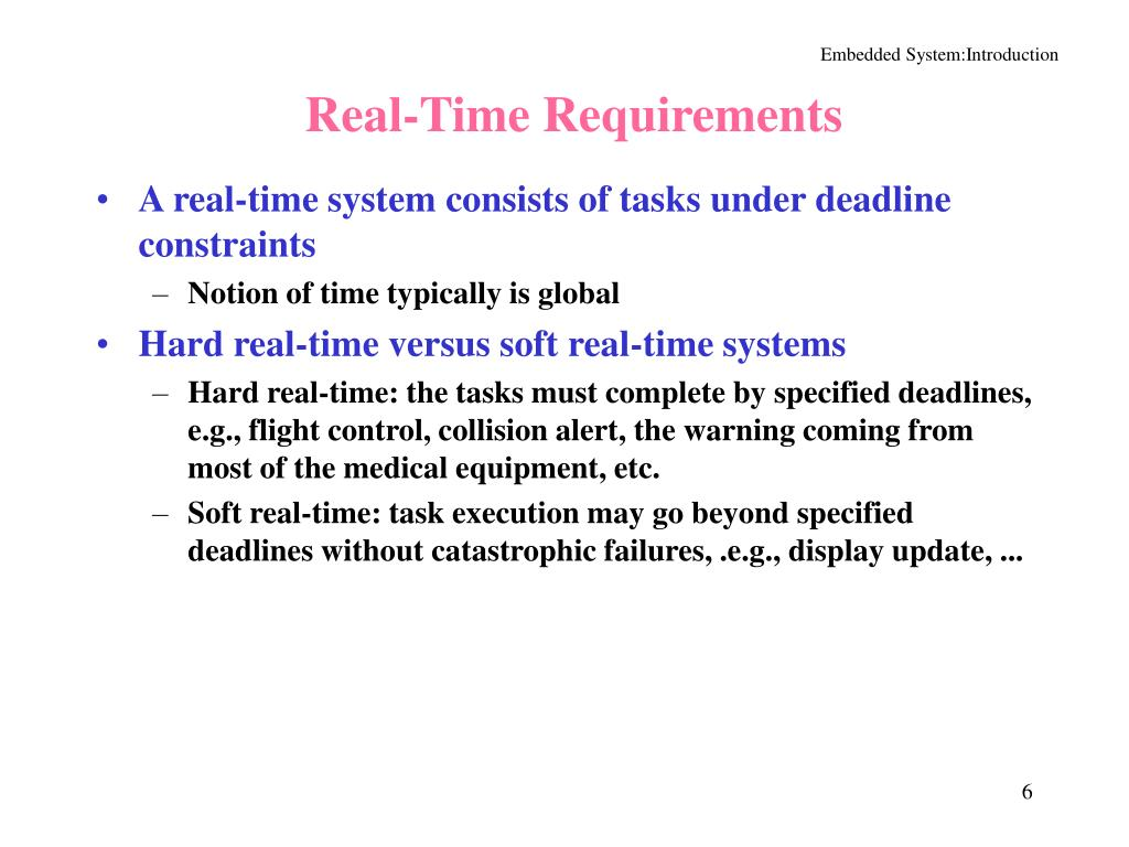 Real-Time Requirements