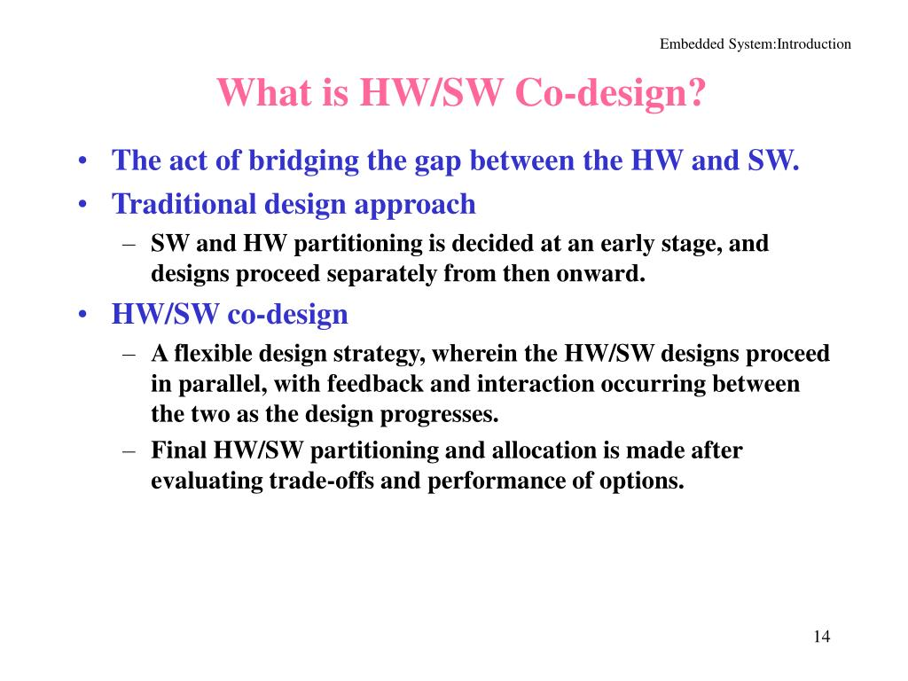 What is HW/SW Co-design?