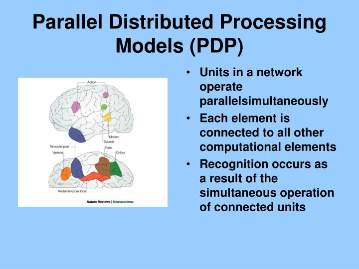 Parallel Distributed Processing Models (PDP)