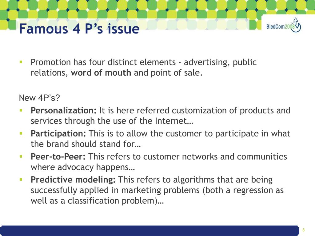 Famous 4 P's issue