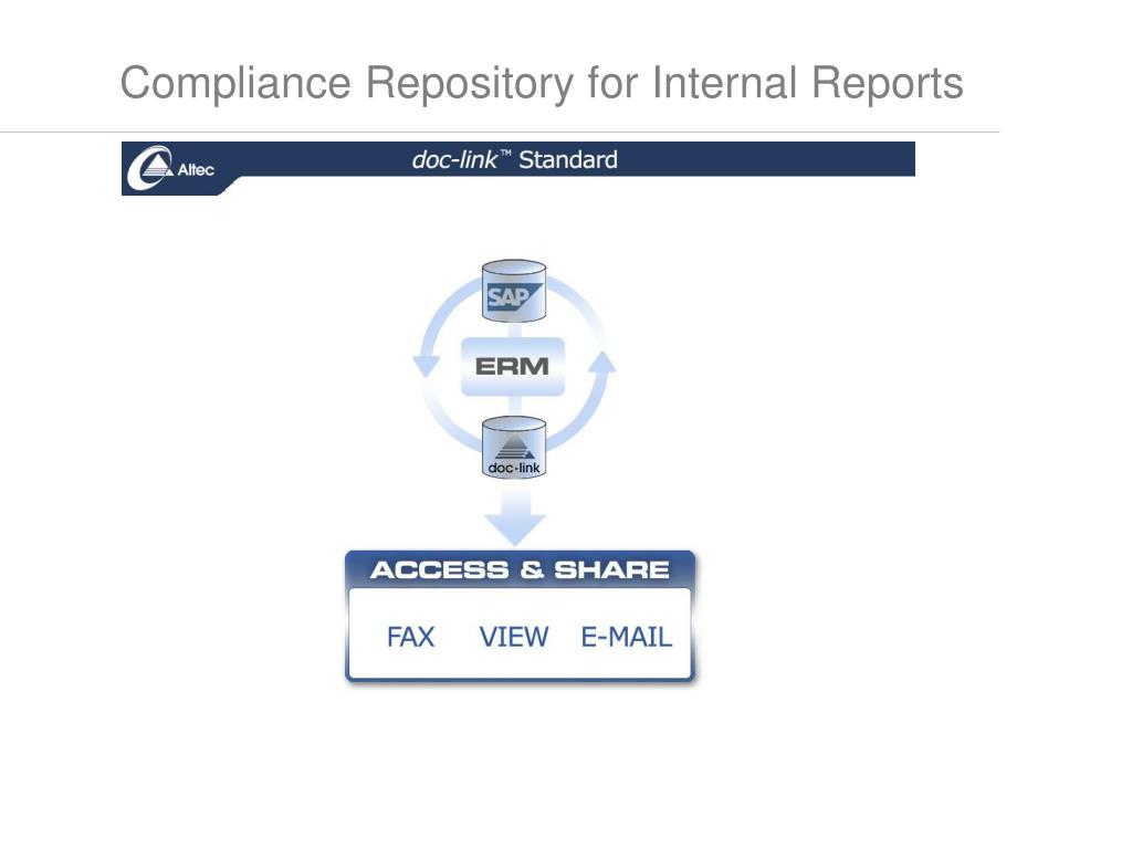 Compliance Repository for Internal Reports