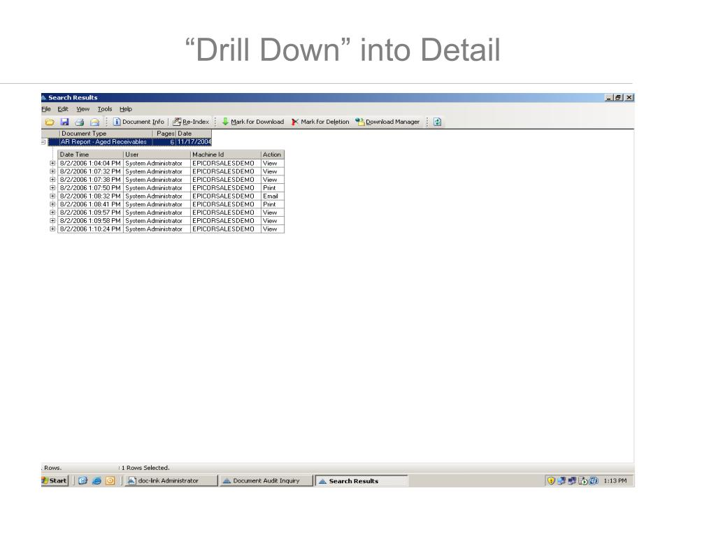 """""""Drill Down"""" into Detail"""