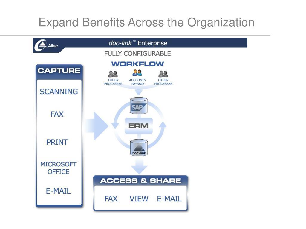 Expand Benefits Across the Organization