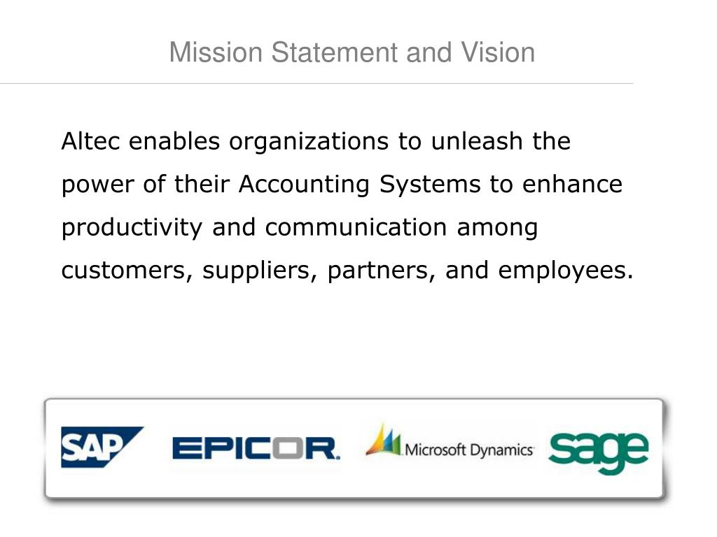 Mission Statement and Vision
