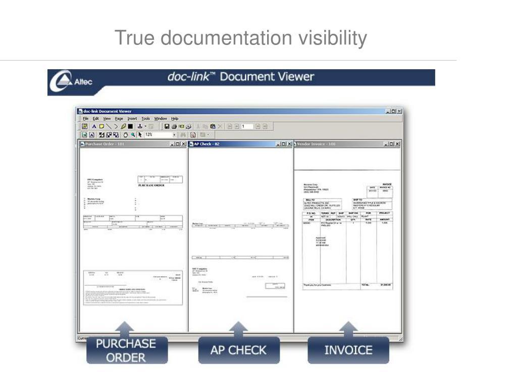 True documentation visibility
