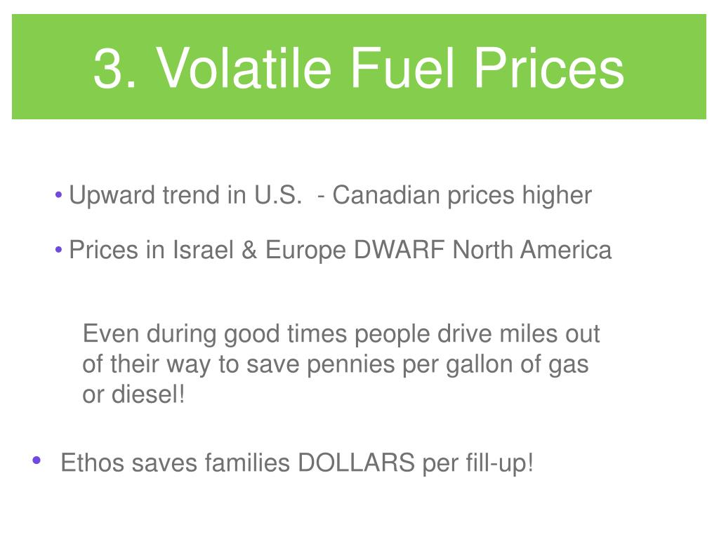3. Volatile Fuel Prices