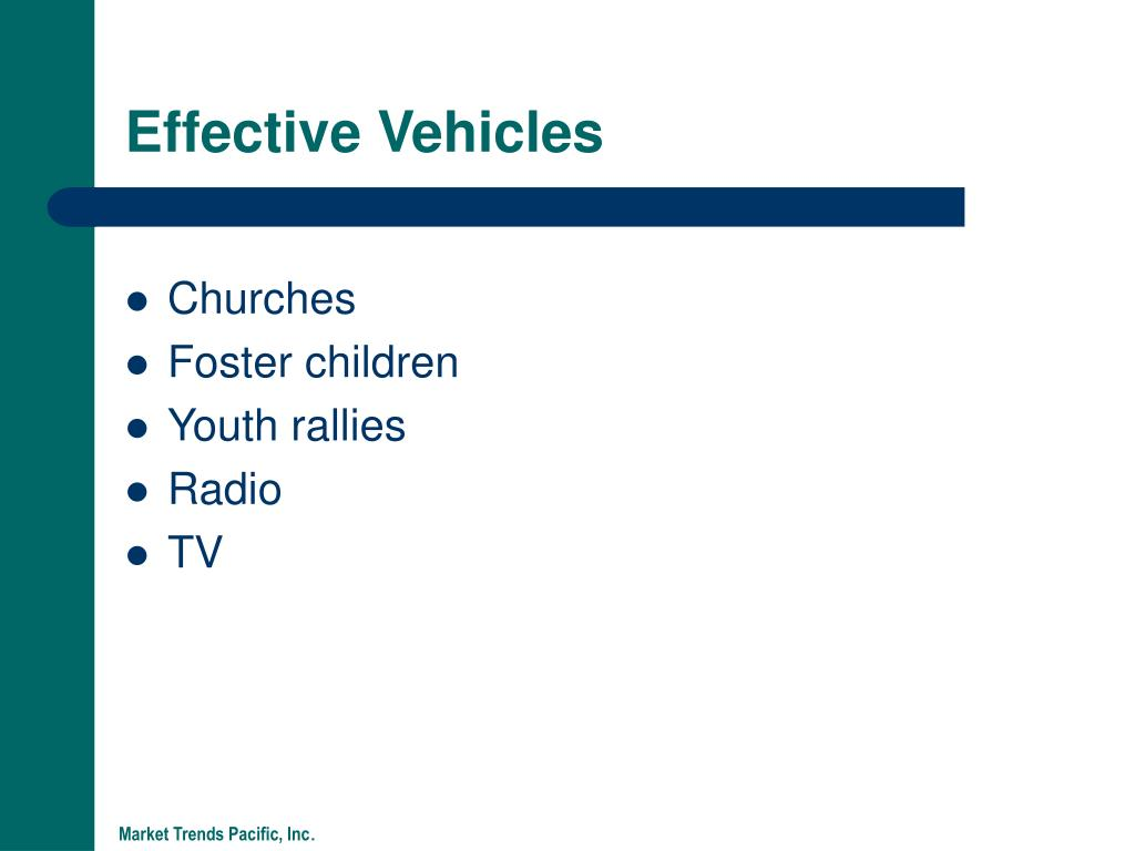 Effective Vehicles