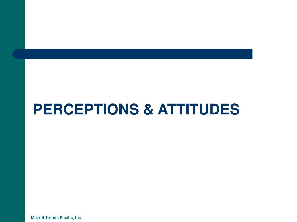 PERCEPTIONS & ATTITUDES