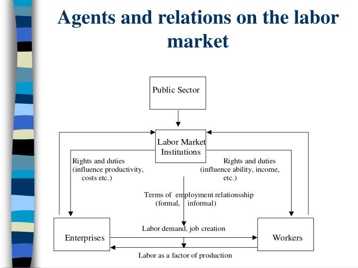 Agents and relations on the labor market