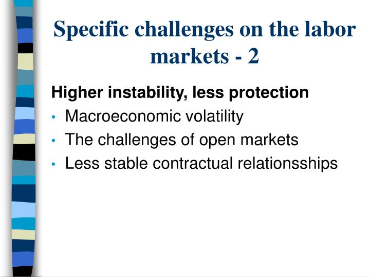 Specific challenges on the labor markets - 2