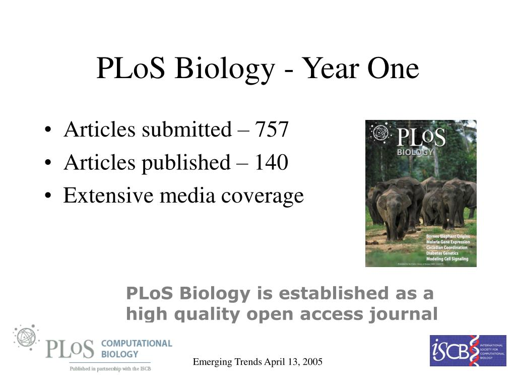 PLoS Biology - Year One