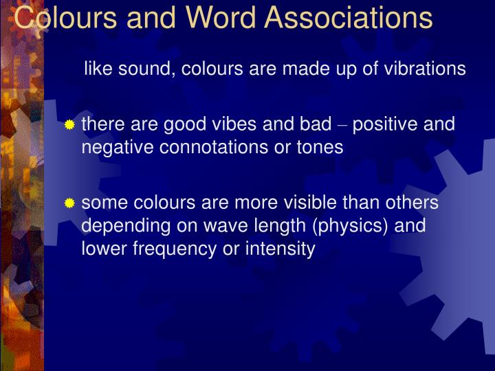Colours and Word Associations