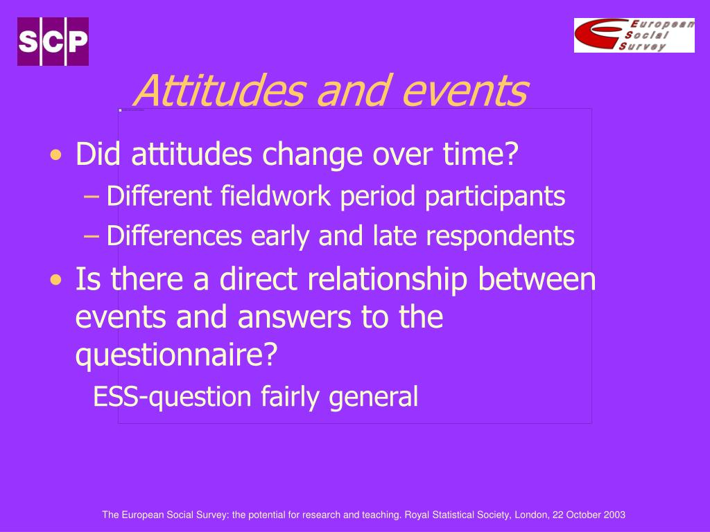 Attitudes and events